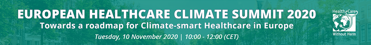 European Healthcare Climate Summit 2020