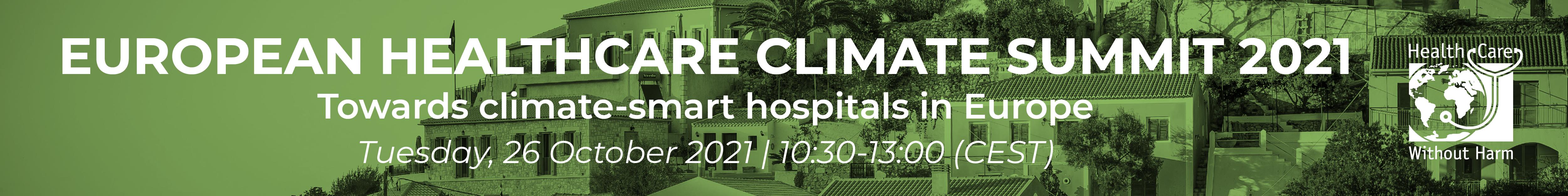 European Healthcare Climate Summit 2021