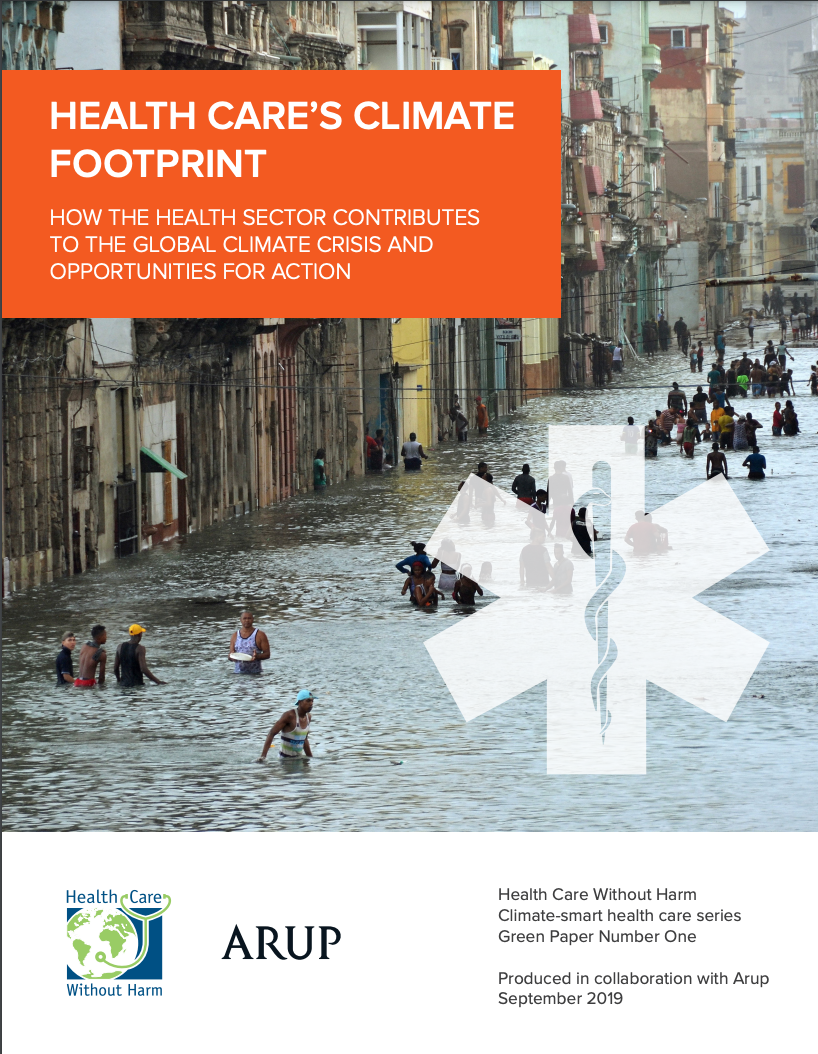 Cover of Health Care's Climate Footprint report