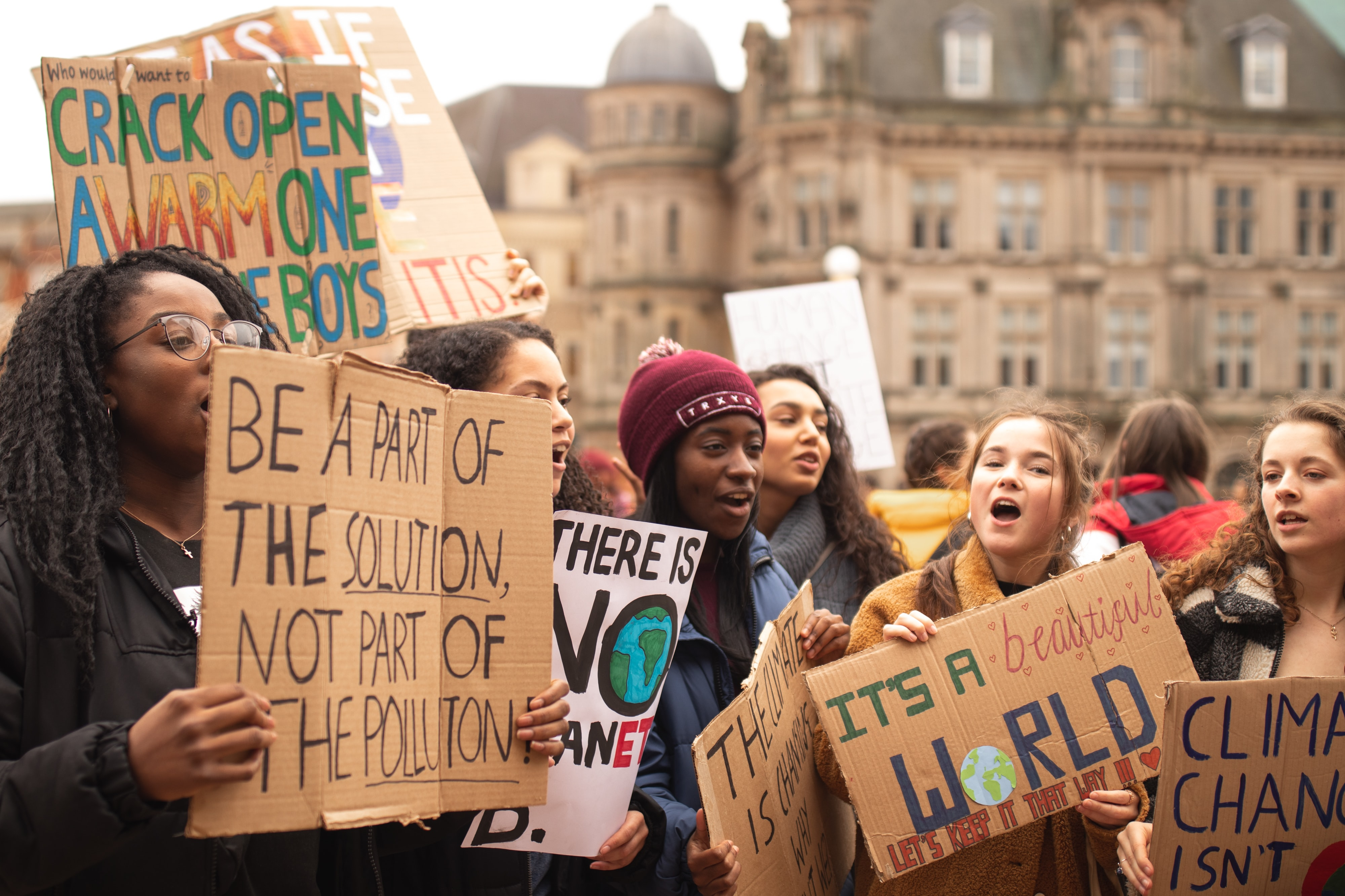 Image of a climate protest